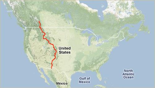 Tour Divide Map