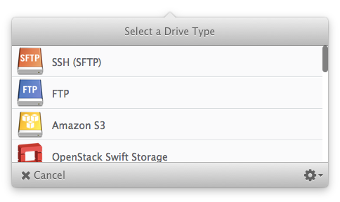 Create new SFTP Drive